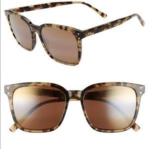 NWT Maui Jim Westside Olive Tortoise Sunglasses